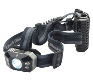 This is a photo of a headlamp for hunting with black-colored headband
