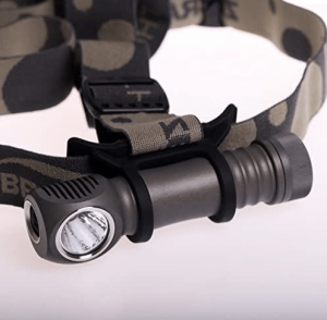 An image of the Zebralight 18650 Headlamp in gray color