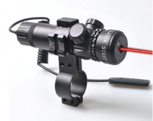 Vokul Red Dot Laser Sight Outside Adjust Rifle Gun Scope 2 Switch Rail Mounts