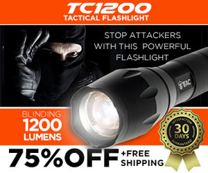 1Tac TC1200 tactical flashlight