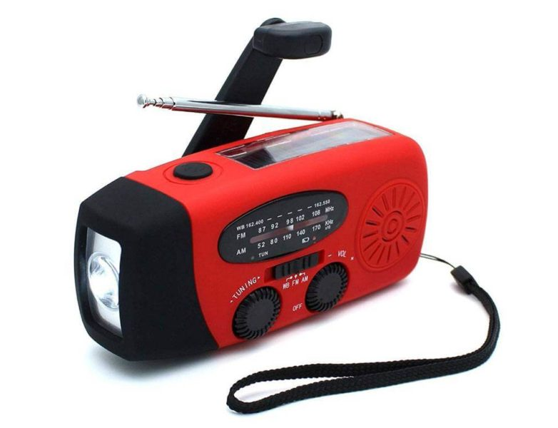 TrustyCharge flashlight, red