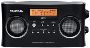 Sangean PR-D5BK AM/FM Portable Radio with Digital Tuning and RDS (Black)
