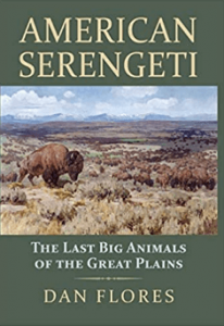 Image of the book American Serengeti: The Last Big Animals of the Great Plains in green cover