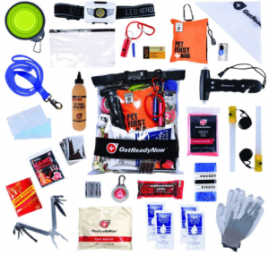 GETREADYNOW Pups & Peeps Emergency Survival Kit - Essential Pet First Aid Kit + Deluxe Supplies to Rescue Pets and Keep Your Four-Legged Friend Safe on The Road.
