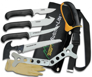 Image of a knife set , five different variations