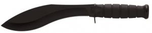 This is the image of the Ka-Bar Combat Kukri Knife, color black, with wide-edge blade.