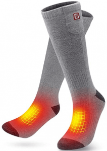 GLOBAL VASION Heated Scoks Winter Electric Rechargeable 3 Heating Settings Thermal Sock for Men and Women