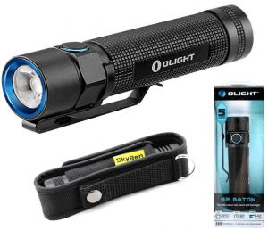 Olight S2 Baton Cree XM-L2 LED 950 Lumens Variable-Output Side Switch LED Flashlight With SKYBEN Holster