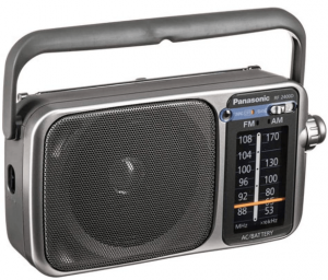 Panasonic Rf-2400D Am/FM Radio, Silver/Grey