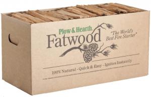 Plow & Hearth 35 Pound Box fire-Starter, Brown