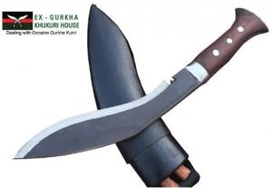 "Genuine Full Tang Blade Rust Free Kukri Knife - 10"" Gurkha Jungle Combate Khukuri - Handmade By Ex Gurkha Khukuri House in Nepal"