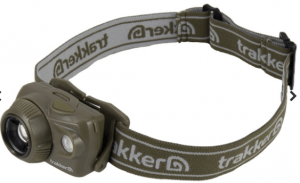 Image of a khaki-colored headband, with product name printed around the band.