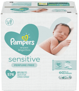 An image of a box containing baby wipes as per label on front.