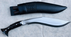 """Authentic Gurkha Knife - 12"""" Blade World War II 'The Survival Alive' Kukri Full Tang with Black Leather Sheath-Handmade by Gurkha Kukri House(GKH) in Nepal -Warehoused & Ship from USA"""