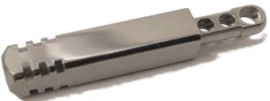 Pixel Ti Microlight - Precision Machined Titanium Keychain LED Flashlight (Cool White LED) - Ultra Light Keychain Flashlight with Replaceable Batteries for EDC