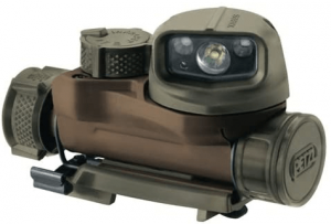 This is an image of a detachable headlamp in camouflage color.