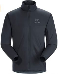 Image of Arc'teryx Atom LT Jacket with zipper-up closure type and embossed logo located on the upper left-side.