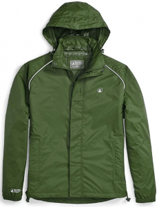 This is an image of the Stasher Jacket Waterproof Rain Jacket in moss green color.
