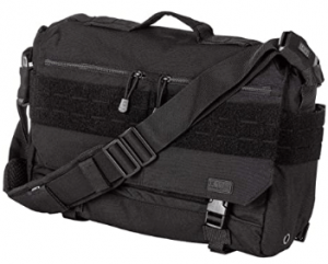 This is an image of the Tactical Rush Delivery Lima Nylon Bag with multiple compartment and a removable strap in black color.