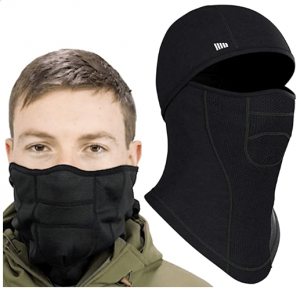 Self Pro Face Mask Ultimate Protection from Aerosols, Dust & Elements - 6 Ways to Wear Black Reusable