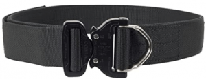 Elite Survival Systems ELSCRB-B-SM Cobra Rigger's with D Ring Buckle Belt, Black, Small