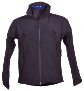 This is an image of a Condor Summit Soft Shell Jacket in blue-violet shade and with two zipper-up pocket on both sides on the front.