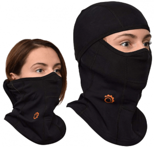 GearTOP Full Face Mask Premium Ski Mask and Neck Warmer for Motorcycle and Cycling, (1 Pack, Black)