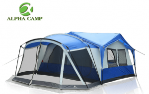 ALPHA CAMP 10-12 Person Tent with Screen Room Cabin Tent Design - 19' x 12'