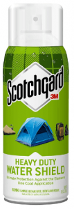 This is an image of the Scotchgard Heavy Duty Water Shield in white and green colored can packaging.