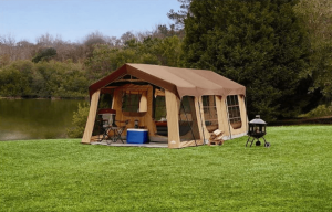 Northwest Territory Large 10 Person Family Cabin Tent w/Front Porch, Room Divider and Rear Door. Great for Family, Guest, or Any Outdoor Sport Adventure Camping.
