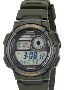 Casio Men's '10-Year Battery' Quartz Resin Watch, Quartz watch movement, LC Analog display, water-resistant suitable for serious water sports except diving.