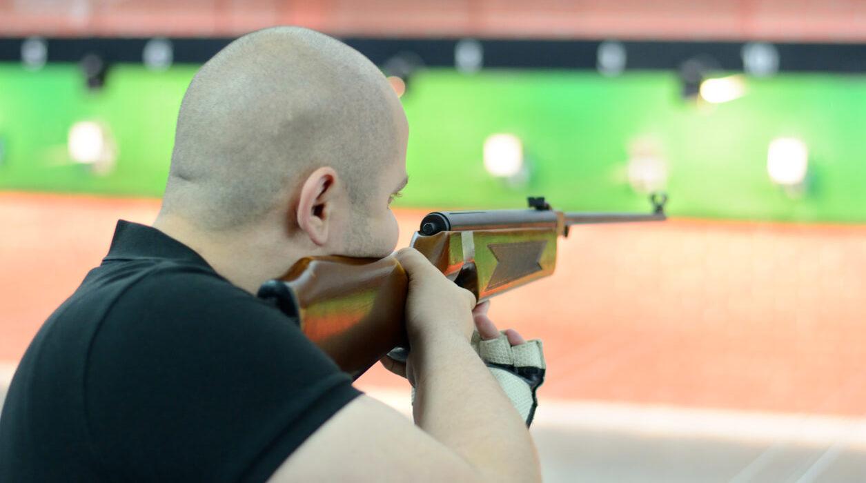 Photo of a man targeting using airgun