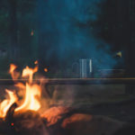 Image of a fire in a Campsite